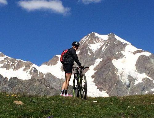 Mtb in Valle d'Aosta: al cospetto di Sua Maestà il Monte Bianco