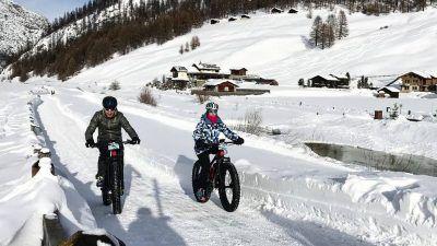 fat bike sulla neve