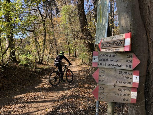 Sentiero Meda Montorfano in bici