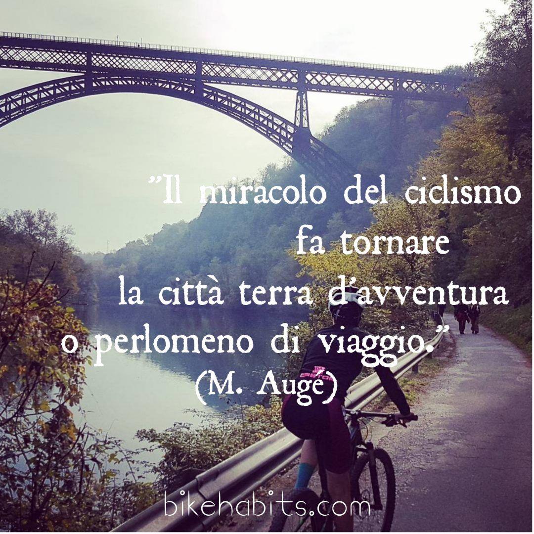 citazione bici Augé