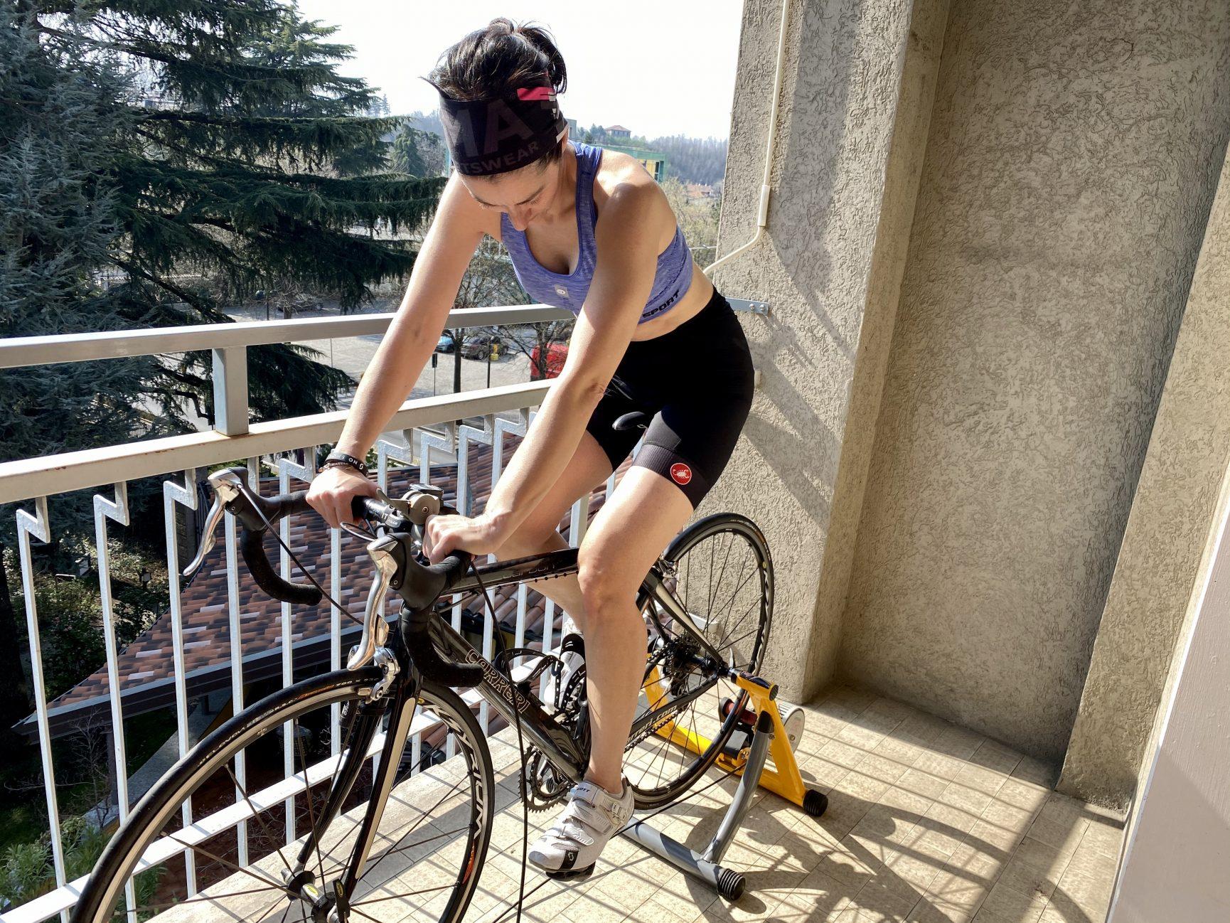 pedalare sui rulli
