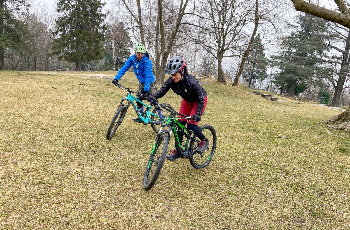 lezioni di mtb per andare in bici