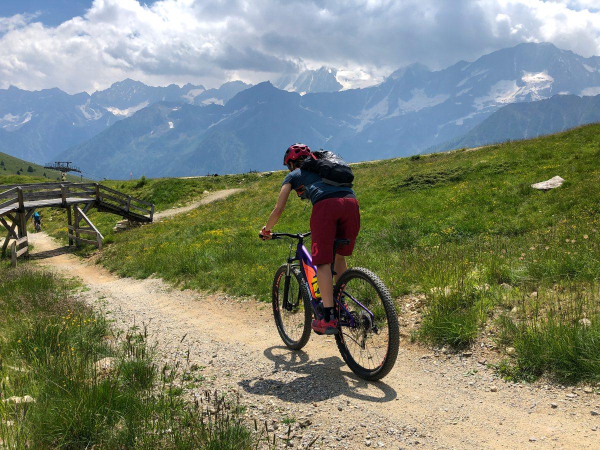 bike park tonale da Ponte di Legno in bici