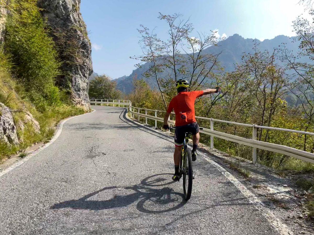 Morterone in bici