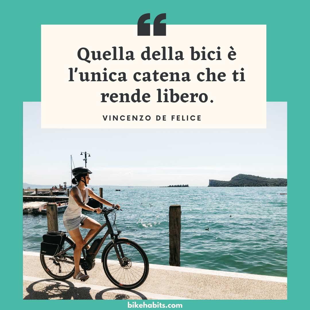 citazione bici catena