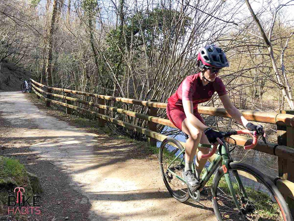 gravel bike sulla ciclabile del Lambro