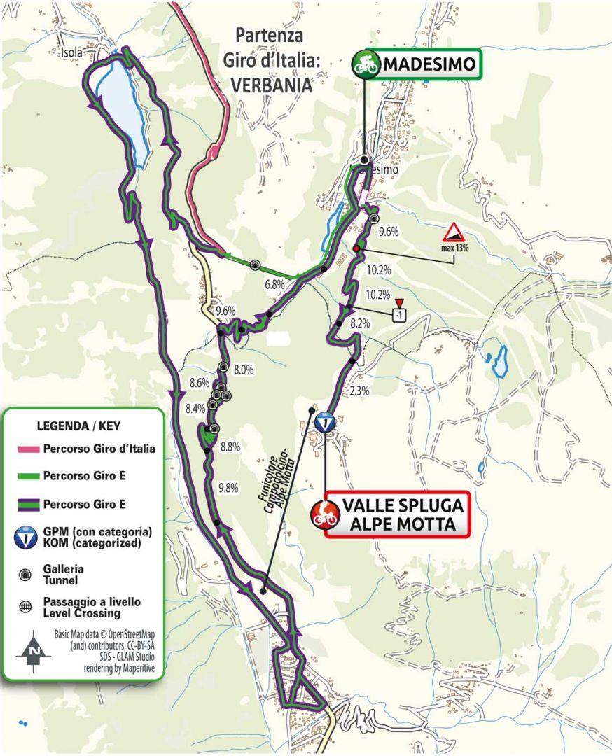 planimetria tappa 20 del Giro-E 2021