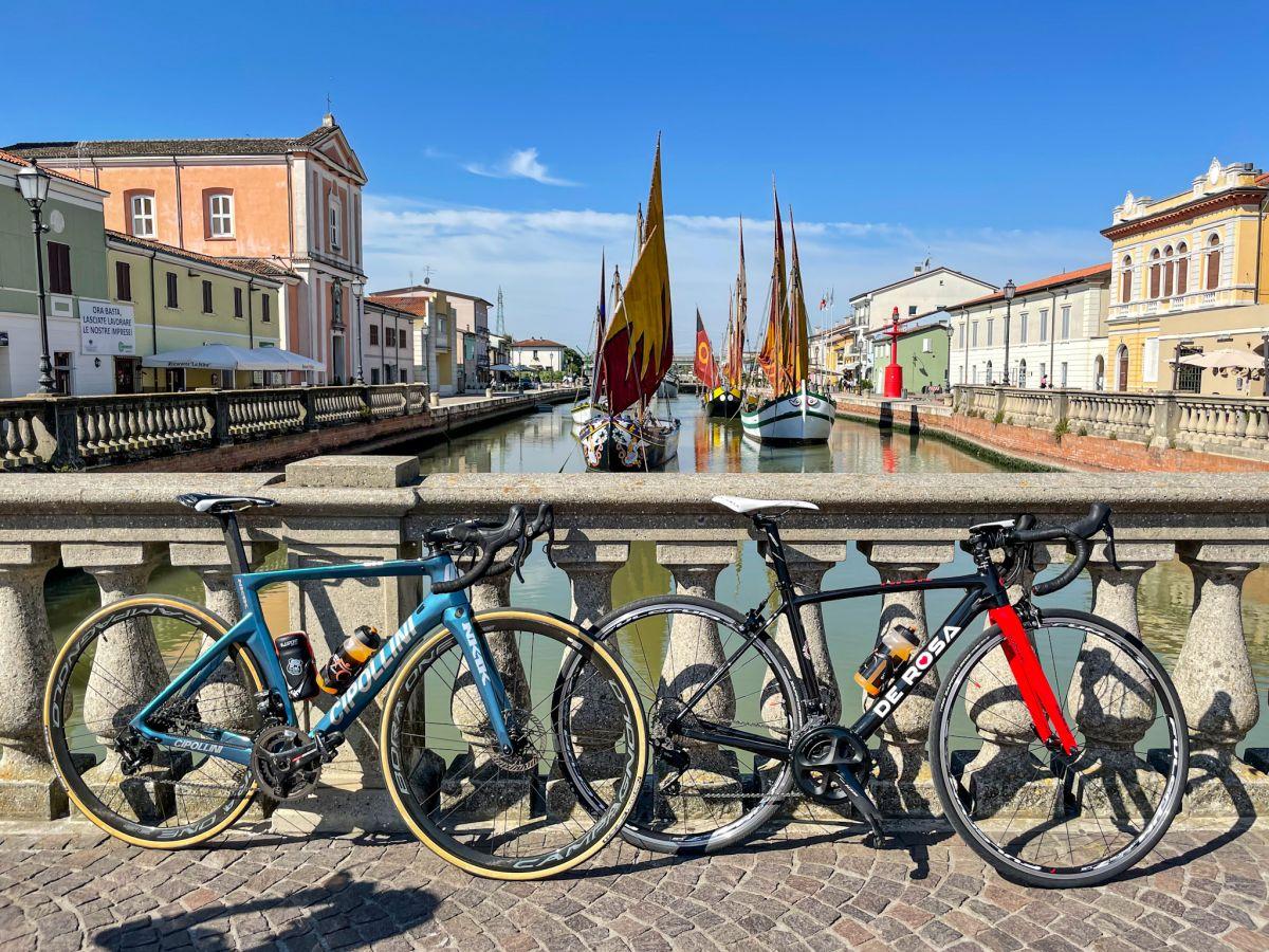 Cesenatico in bici da corsa