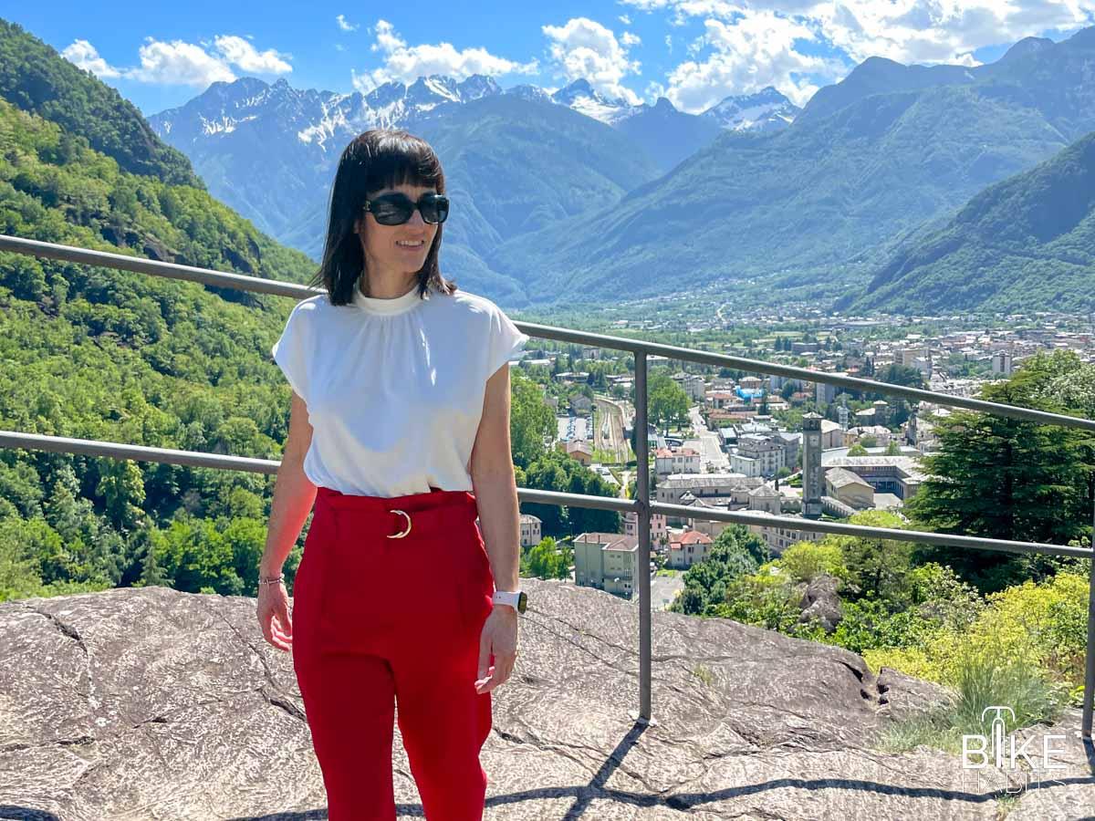vista su Chiavenna dai colli del Paradiso e del Castellaccio