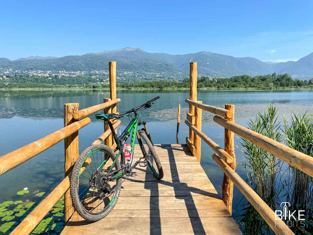lago di Alserio in mtb